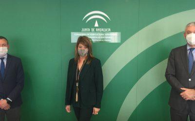 El nuevo delegado de Medio Ambiente conoce las actuaciones del Puerto de Huelva en un encuentro institucional