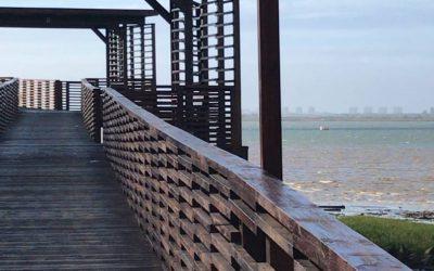 El Puerto de Huelva instalará zonas de ejercicio y juegos infantiles junto a la Ría