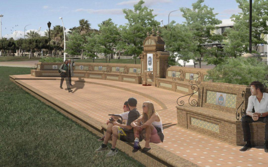 La Fuente de las Naciones del Puerto de Huelva será una realidad en otoño
