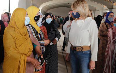 El Muelle de Levante del Puerto de Huelva acoge el dispositivo para realizar pruebas PCR a temporeras marroquíes antes de regresar a su país