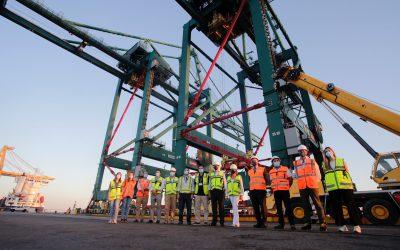 El Puerto de Huelva incrementa la capacidad operativa de la terminal de contenedores con la llegada de tres grúas nuevas