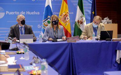 El Puerto de Huelva celebra el primer consejo de administración presencial tras la pandemia y llega con una recuperación histórica en el tráfico en los últimos meses
