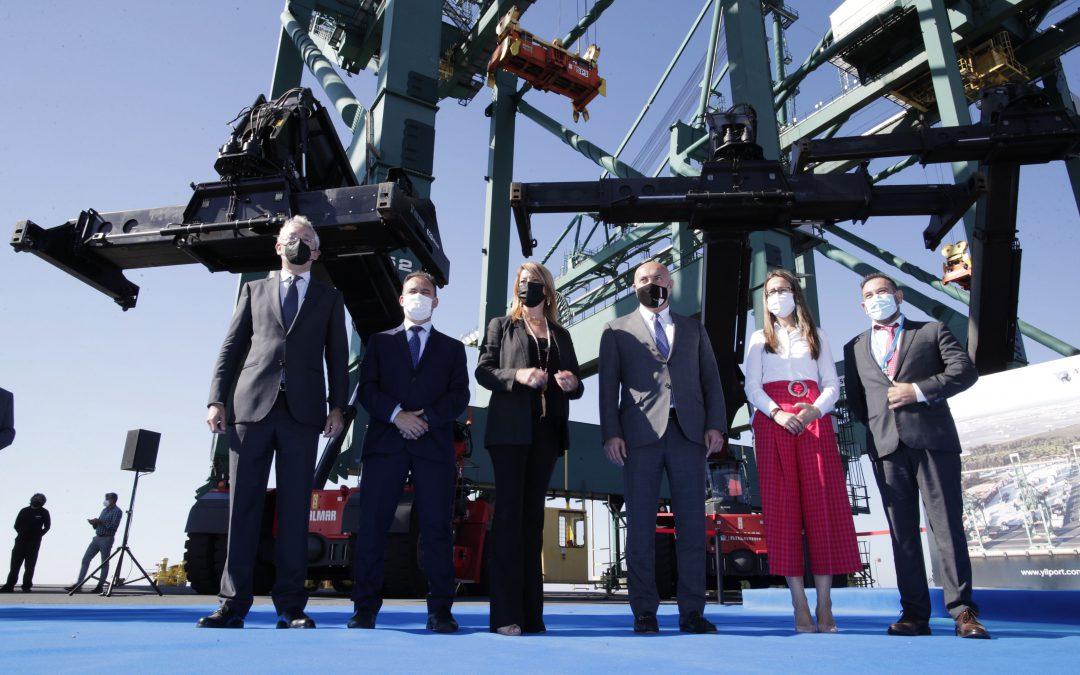 El Puerto de Huelva acoge la presentación de Yilport Holding de tres nuevas grúas Super Post Panamax, que incrementarán la capacidad y el rendimiento de la terminal de contenedores del Muelle Sur